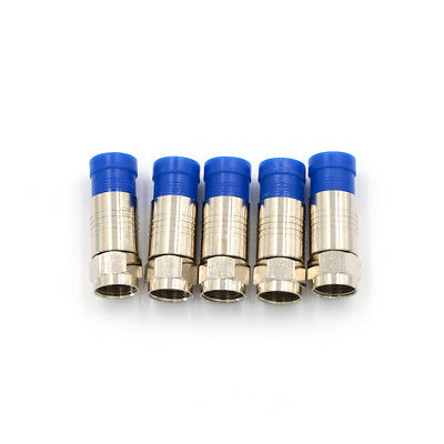 5pcs F Connector RG6 Coax Compression Cable Connector   RDR