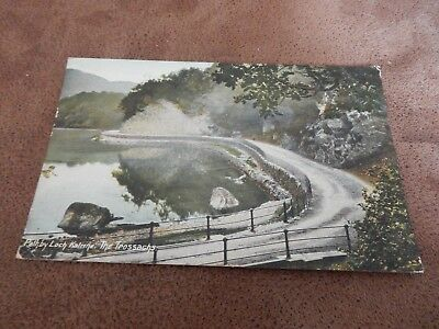 Early Wrench postcard- path by Loch Katrine - Trossachs Highland