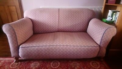 Chaise Longue Sofa Vintage Wooden Legs With Drop End
