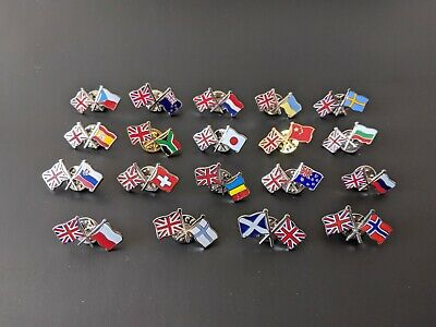 UK Friendship Flag Enamel Lapel Pin Badges Select Your Country Gift/Collectable