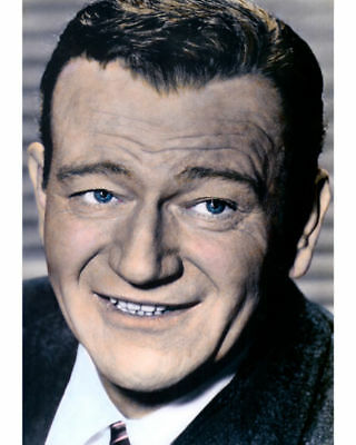 "John Wayne Western Icon Actor Director Producer 8X12"" Hand Color Tinted Photo"