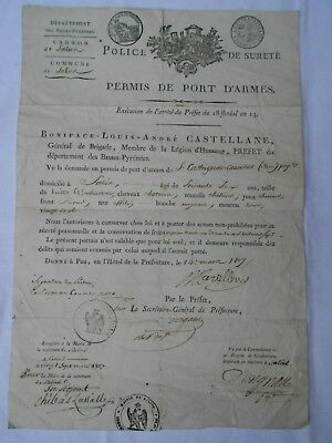 Document Premier  Empire Napoleon  Police De Surete  1807