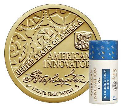 2018 P American Innovation $1 Dollar Coin Roll Mint Uncirculated FIRST OF SERIES