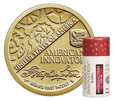 2018 D American Innovation $1 Dollar Coin Roll Mint Uncirculated FIRST OF SERIES