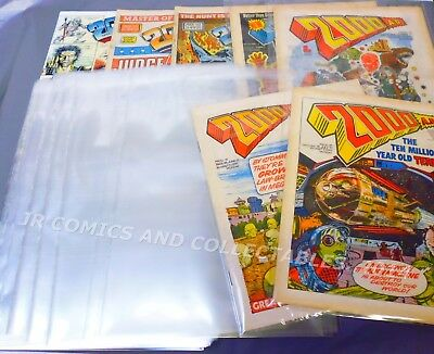 SIZE F. 100 x ULTRA CLEAR POLYPROP. COMIC BAGS - OLD SIZE 2000 AD - PLAIN SEAL