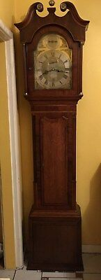 Antique Grandfather long case Clock 8 Day  Striking  Mahogany/Oak C 1760-1800