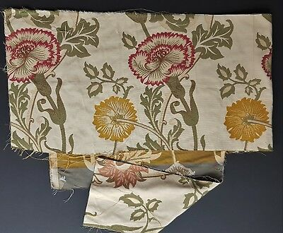Designer Fabric Probably Sanderson Carnations Heavy Weave