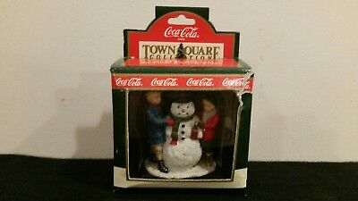 Coca Cola Town Square Collection Thirsty The Snowman 1992