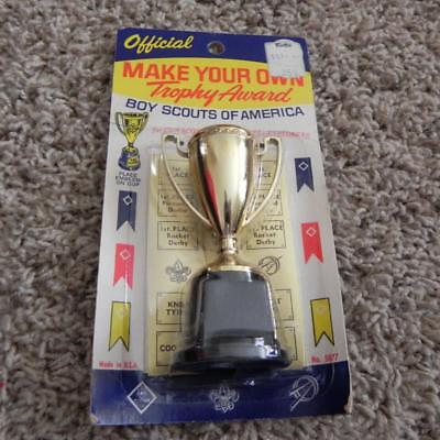 #2177 Vintage Official Boy Scouts of American Make YOur Own Trophy Award Cup NOS