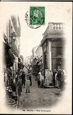 Cpa 1911 - Blida, Rue Coulouglis -