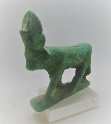 Beautiful Ancient Egyptian Bronze Statuette Of Hathor Museum Quality