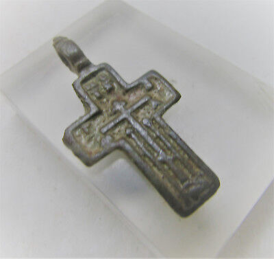 Lovely Post Medieval Christian Crucifix Cross Amulet Wearable