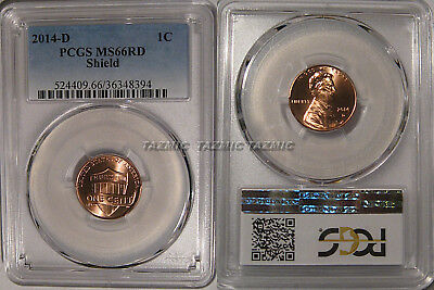 2014 D Lincoln SHIELD Cent 1c PCGS MS66RD