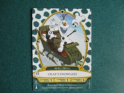 Olaf Christmas Party Card Disney Sorcerers Of The Magic Kingdom 2015  #08/P