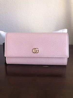 c7994a8b66a GUCCI Petit MARMONT continental wallet Folded Long wallet leather pink