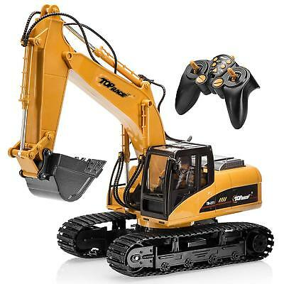 Heavy Duty Excavator Metal Digging RC Remote Control 15CH Realistic Vehicle Toys
