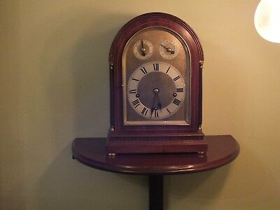 W&H, Winterhalder Hofmeier mohogany bracket/mantel clock and bracket