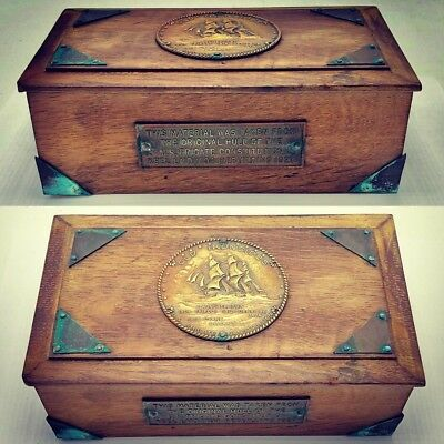 RARE ANTIQUE BOX Made from Relic Wood of USS CONSTITUTION OLD IRONSIDES 1927