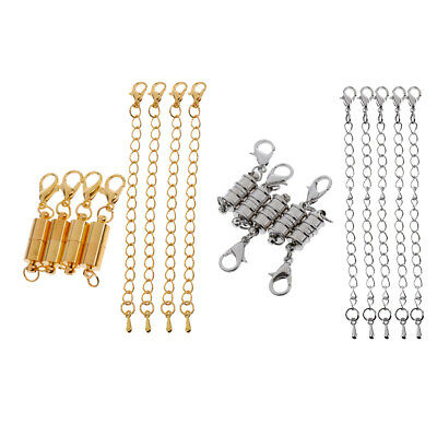 18pc Capsule Style Lobster Clasp Converter with Chain DIY Findings Design