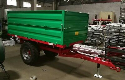 Farm Tractor Tipping Trailer 2 Tonne Agricultural Dump Hydraulic **INC VAT**