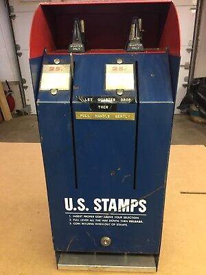 Vintage Usps Model S67 Postage Stamp Coin Operated 25 Cent