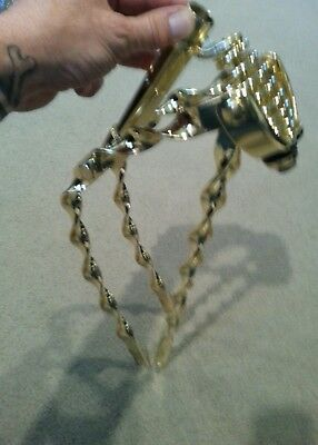 NEW BICYCLE LOWRIDER SISSYBAR GOLD FLAT TWISTED 90 degree BENT !