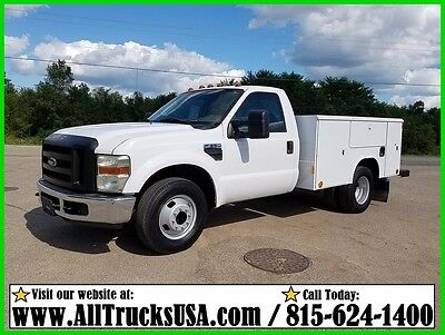 2009 FORD F350 REGULAR CAB 5.4L V8 GAS 9' READING UTILITY BED SERVICE TRUCK 128k