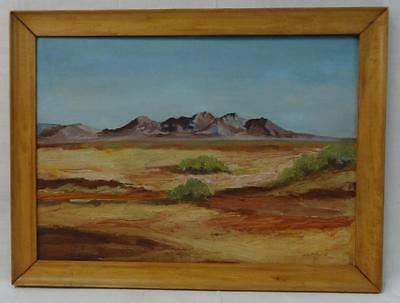 Antique Oil on Board SW Landscape Painting Signed/Dated Listed Artist