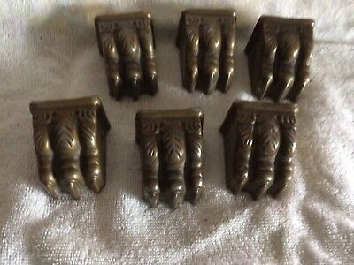 6 Vintage / Antique Claw Table Leg Feet Metal Claw Foot Hardware