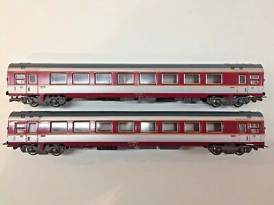 2 x Jouef TEE SNCF Grand Confort Passenger Coaches HO Ref 5341 - Used