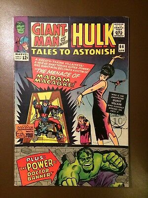 Marvel comics : TALES TO ASTONISH # 66 ,1965 FN condition, Giant-Man, Wasp, Hulk