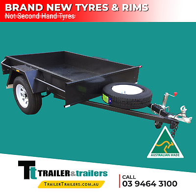 8X5 Single Axle Domestic H/duty Box Trailer | Smooth Floor | Fixed Front