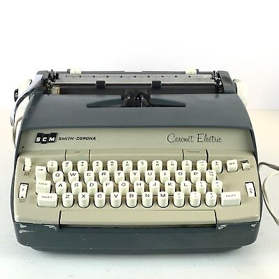 Vintage Smith Corona Coronet Electric Typewriter RARE Cursive Font with Case