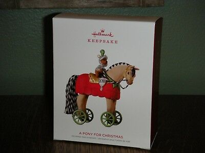 2018 Hallmark Ornament ~A PONY FOR CHRISTMAS~ 21ST IN THE SERIES