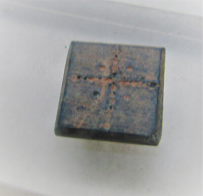Museum Quality Ancient Byzantine Double Sided Trade Weight Cross & Monogram