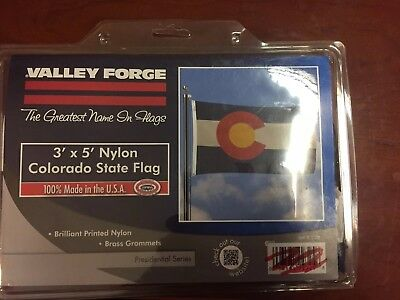 Valley Forge 3' x 5' Colorado State Flag, Brass Grommets, Nylon