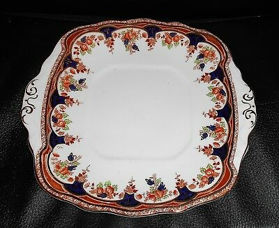 Antique Square Sutherland China Cake Plate