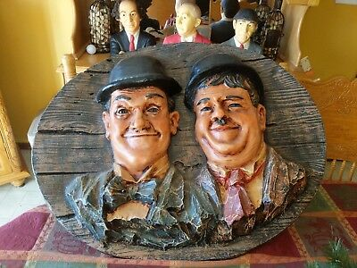 Laurel and Hardy Large Wall Hanging Plaque 29 by 23 inches