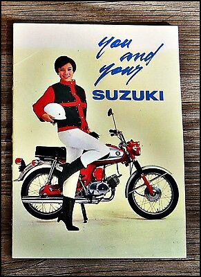 Vtg SUZUKI  Japan PAMPHLET Given Out w/ Bike Purchase 13 Pages