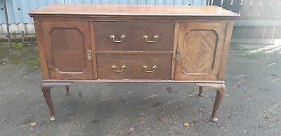 Large Antique Sideboard Dresser Credenza Cabinet Mahogany Walnut to Paint?