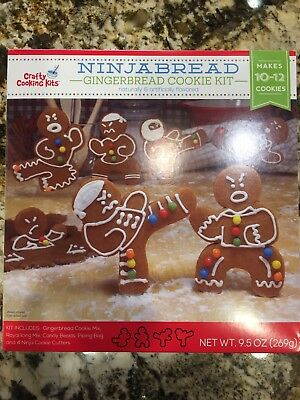 NINJABREAD Gingerbread Cookie Kit by Crafty Cooking Kits Martial Arts BB:6/29/19