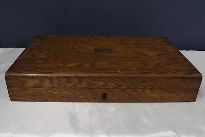 antique wooden box cutlery