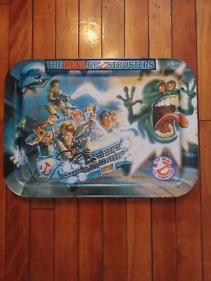 1986 The Real Ghostbusters Metal Folding Tray Great Condition Fast Free Shipping