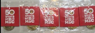 "McDonalds 50 YEARS BIG MAC Anniversary Coins - Complete Set of 5 ""BEST PRICE""!!"