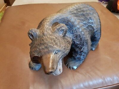Antique Bear~Carved Black Forest Style Bear,  Very Large