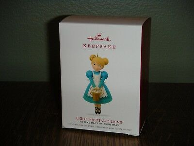 2018 Hallmark Ornament ~EIGHT MAIDS-A-MILKING~ 8TH IN THE TWELVE DAYS SERIES