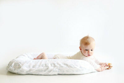 Snuggle Me Original | Patented Sensory Lounger for Baby | Optic White Cover
