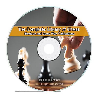 Vintage Library of Chess, 100 Books, Learn How to Play, History Strategy DVD H60