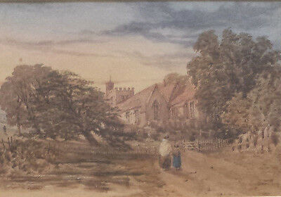 Unsigned 19th century british watercolour (not oil) painting.