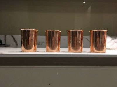 4 X Handmade Pure Copper glass/tumbler For Health Benefits UK Shipping